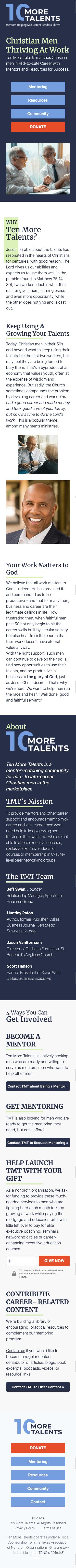10 More Talents - Website Mobile