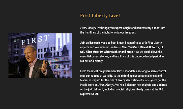 First Liberty Live Screen 1